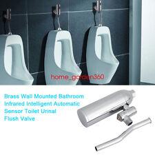 Automatic Urinal Sensor Flush Valve Chrome Bathroom Faucet Tap Wall Mounted