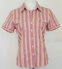 Kim Rogers Button Front Shirt Size M Short Sleeve Women Blouse Top Cotton Blend