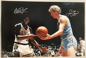 Larry Bird Signed Photo 20x30 Magic Johnson College Autograph Basketball HOF JSA
