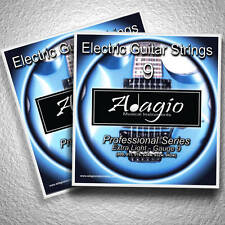 2 Full Packs Of Electric Guitar Strings Extra Light Gauge 9 - 42 Adagio Pro