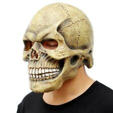 Skull Mask Full Head Scary Halloween Realistic Latex Party Horror Costume Props