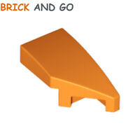 2X Lego 29119 Derecho Ala Curva (Naranja) Cuña 1x2 Right Curved Nuevo