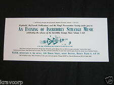 INCREDIBLY STRANGE MUSIC—1995 RELEASE PARTY INVITATION