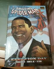 THE AMAZING SPIDER MAN HARDBACK BOOK BY MARVEL ELECTION DAY