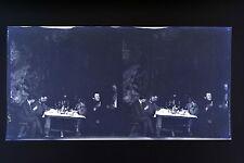 Famille bourgeoise en vacance Aux Rocs la grotte Photo stéréo négatif sur film