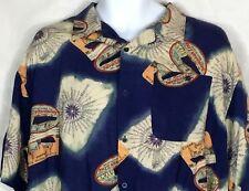 5b49d537 Hawaiian Pace Mens XL Short Sleeve Button Front Blue Shirt Aloha Lounge  Nautical