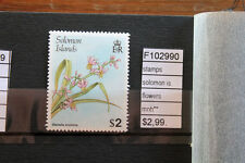 STAMPS SOLOMON ISLANDS FLOWERS MNH** (F102990)