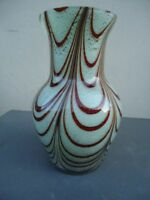 Thüringen Studioglas Faden Vase Hoch ca 250 mm Ø  ca 150 mm + ca 1,5 Kg