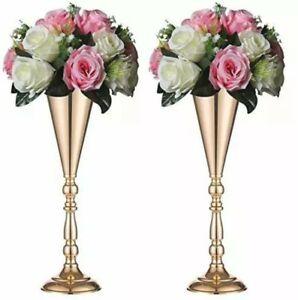 Sziqiqi Trumpet Floral Centerpiece Riser Stand for Wedding Reception Centerpi...