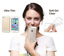 Ultra Slim Clear Transparent Gel Silicone Case Cover Skin for iPhone 5 5S & SE