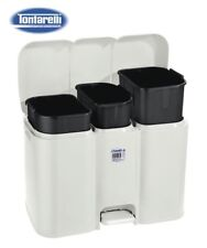 3 Compartment Large Recycling Recycle Pedal Bin 40L