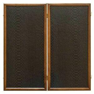 """24"""" Luxury """"Royal Black Snake"""" Backgammon Set Eco-Leather Insert - !NEW!"""