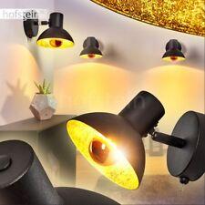 Flur Retro Wand Lampe Schalter verstellbar Wohn Schlaf Raum Leuchte schwarz-Gold