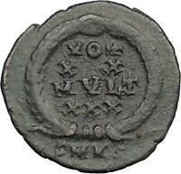 Constans Gay Emperor Constantine the Great son Roman Coin Success WREATH i33047