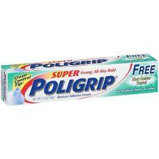 SUPER POLIGRIP FREE DENTURE ADHESIVE CREAM 2.4 OZ