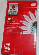 "Home Accents Set of 100 Clear Mini Christmas Lights - 2.5"" Spacing - Green Wire"
