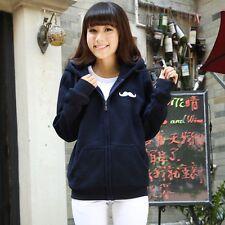Brand New Japan Mori Style Mustache Hoodie Outwear Jacket Cardigan Sweatshirt XS