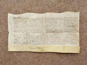 1593 Warwickshire 16th century Elizabethan Latin manuscript Vellum Document