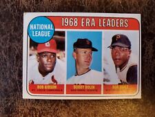 1969 Topps Basebal Bob Gibson St. Louis Cardinals ERA Leaders #8