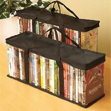 Portable DVD CD Storage Carry Handbag Book Dustproof Tote Zipper Organizer Clear