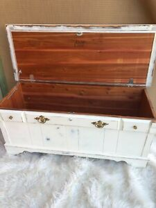 Vintage Trunk Refurbished in Shabby Chic Style (Solid Wood, Excellent Condition)