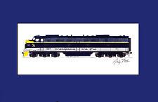 "Chesapeake & Ohio E8 11""x17"" Matted Print Andy Fletcher signed"