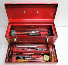 STACK-ON TOOL BOX WITH U.S. MILITARY SURPLUS ASSORTED TOOLS