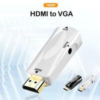 HW2208 HDMI Auf VGA Konverter HD 1080P Video Adapter Mit 3.5mm Audio Jack