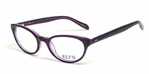 Calabria Vivid Designer Reading Glasses Ecru 'Daltrey' in Violet ; Demo Lens