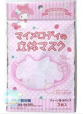SANRIO My Melody Disposable 3D Mask Dust Protection 3 pcs 1 pac for Teen Age