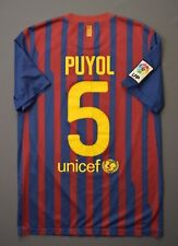 4.9/5 BARCELONA #5 PUYOL 2011 2012 NIKE FOOTBALL HOME SHIRT JERSEY SOCCER