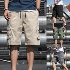 Модные мужские повседневные шорты карго брюки с множеством карманов боевая летняя пляжная брюки