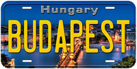 Budapest Hungary Aluminum Novelty Car Tag License Plate