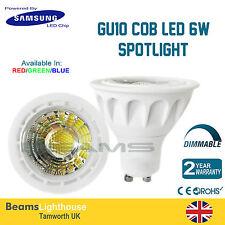 GU10 Samsung LED CHIP 6W 120⁰ COB LED RED/GREEN/BLUE Lamp bulb Downlight 6W=50W