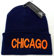 CHICAGO City Skull Cap Embroidered Cuff Beanie Winter Hat Cuffed NWT