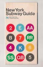 1974 New York City Subway Massimo Vignelli Map Guide MoMA NYCTA Modernist