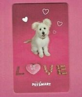 PETSMART Gift Card - Puppy Dog - Fluffy White - LOVE - No Value - I Combine Ship