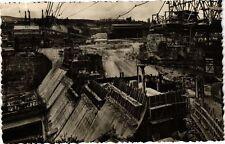 CPA Barrage de GÉNISSIAT Parement aval vu de la rive gauche (244266)