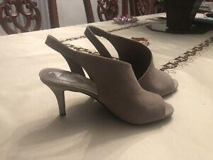 New Bandolino 7.5 Gorgeous Camel Tan Brown Heels Women's Shoes Peep Toe