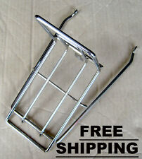 Honda Cub C50 C65 C70 KA Passport C90 Front Rack Carrier Chrome - FREE SHIPPING