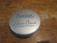 Vtg Typewriter Ribbon Tin Kee Lox KeeLox Silver Brand Rochester New York