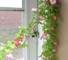 Set of 4 Pieces Artificial Pink Morning Glory Flower Vines