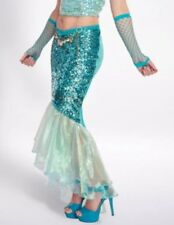 Mermaid Costume Halloween Cosplay Green Iridescent Sequin Tail Skirt M / L NEW