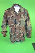 Army BDU Field Jacket Woodland Camouflage - Small Regular - Hunting Coat - GI
