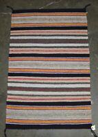 Navajo Banded Double Saddle Blanket - Hand Spun Wool