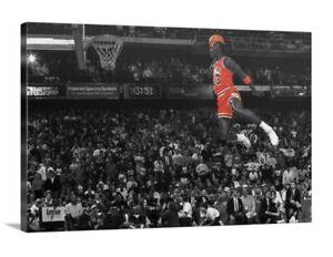 Michael Jordan Canvas Wall Art 20x30 Chicago Bulls 23 Legend Goat Last Dance