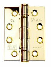 Dale Electro Brassed 2 Ball Bearing Hinge Grade 13 DH000836 102mm x 76mm x 3mm
