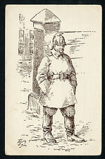Russia Vintage Postcard Zvorykin Zworykin Moscow Types Firefighter Very Rare !!!