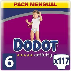 Dodot Baby Activity Nappies Size 6 (+13 kg), 117 Nappies with More Resistant Fit