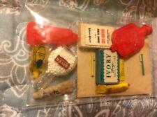 Vintage Dollhouse Miniature Household Items Lot Water Bottle, Soap Bayer Shampoo